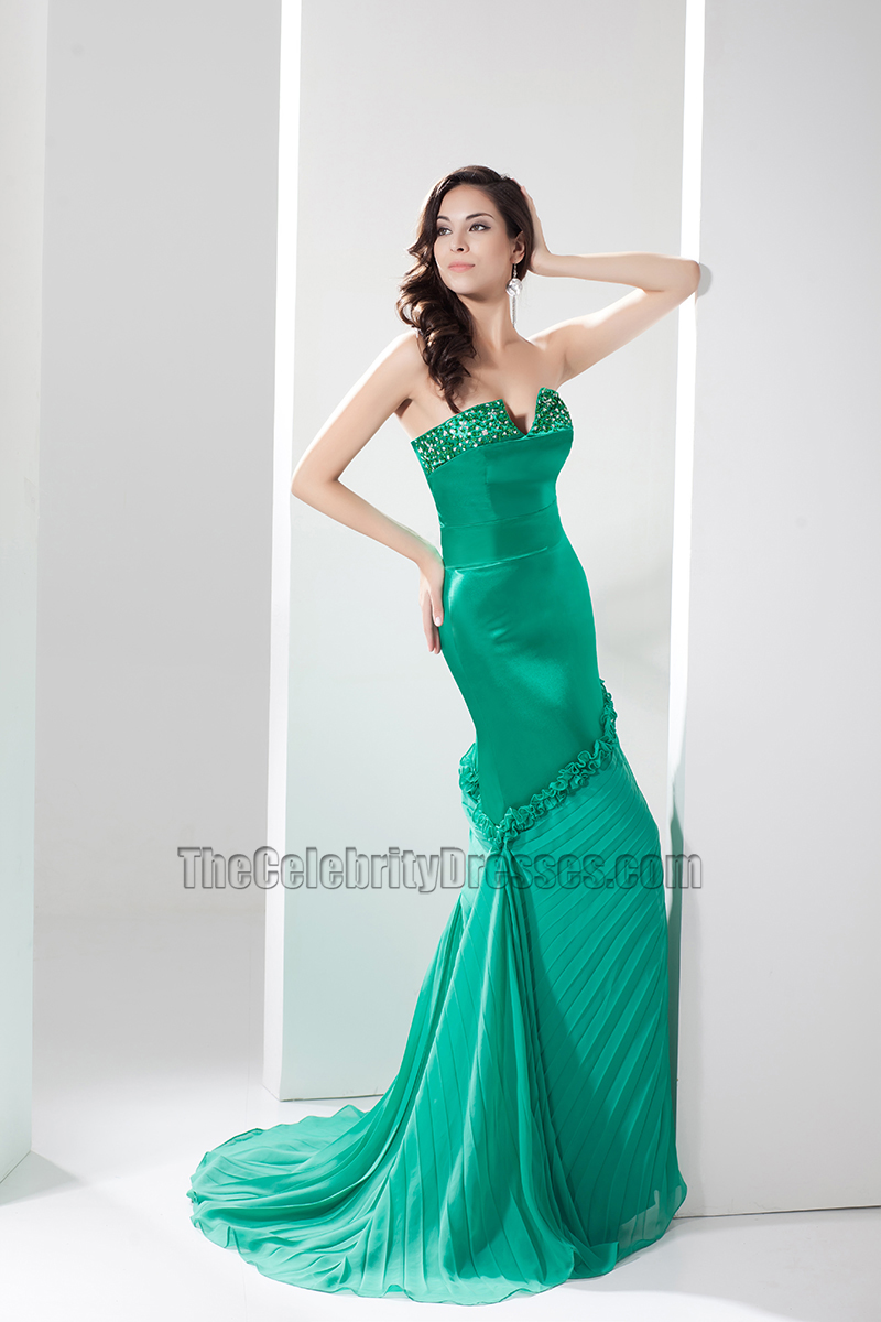 Sexy Hunter Strapless Evening Gown Prom Dresses - TheCelebrityDresses