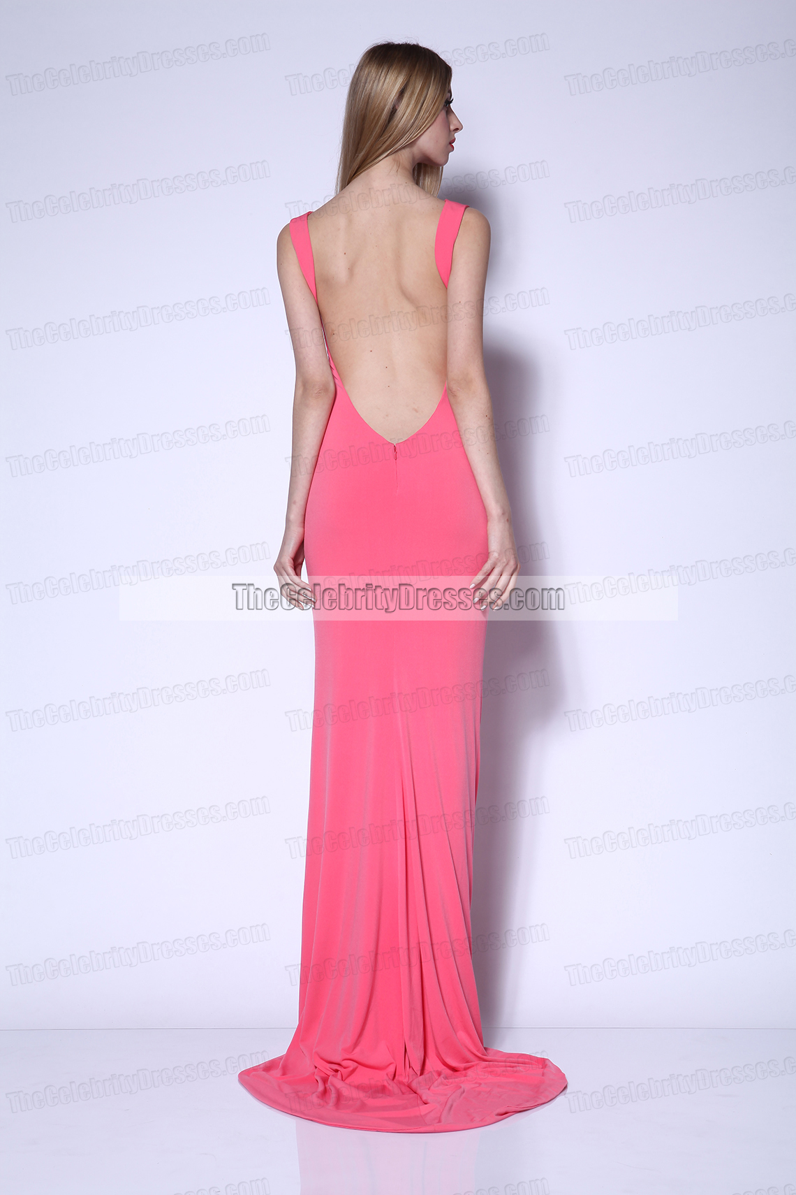 Sexy Long Open Back Evening Dresses Prom Gowns - TheCelebrityDresses