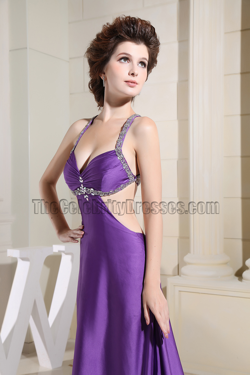 Apologise, but, Sexy purple long dress shall afford