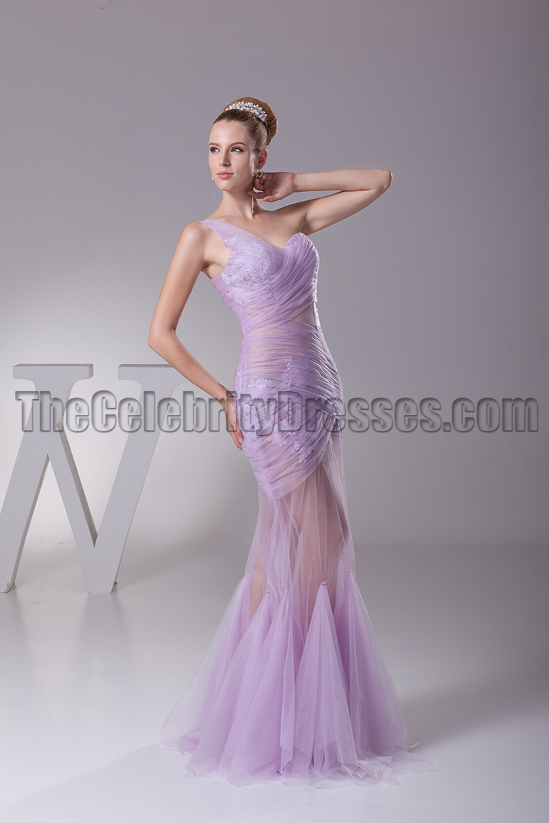 Sexy See Through One Shoulder Prom Gown Evening Dress - TheCelebrityDresses
