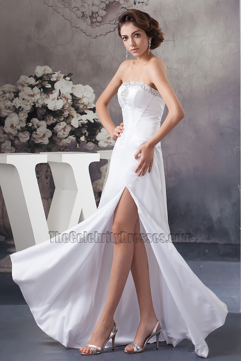 Sexy Strapless Floor Length Wedding Dress Bridal Gown Thecelebritydresses
