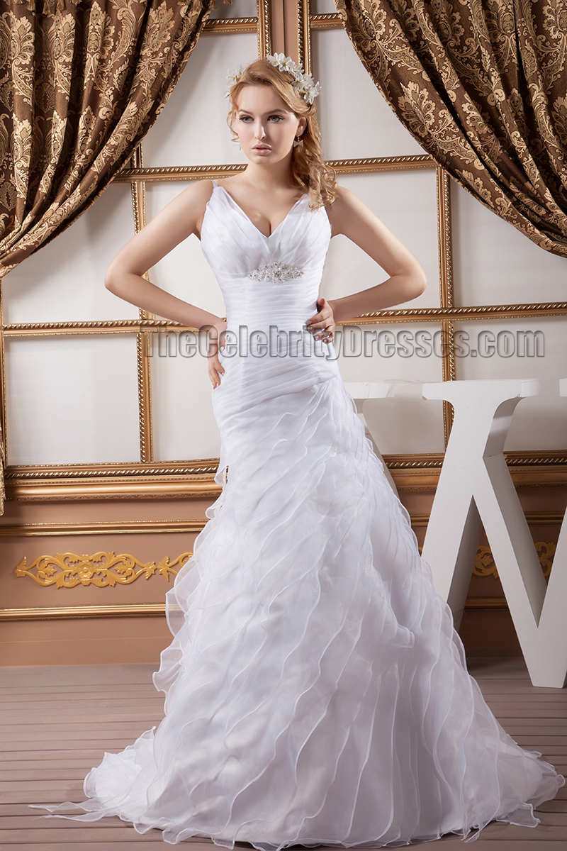 Discount sheath column v neck organza wedding dresses for Cheap sheath wedding dresses