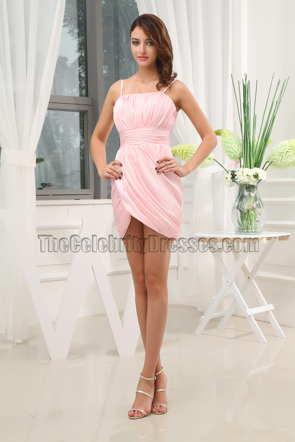 Short Pink Party Dress Homecoming Graduation Dresses ...