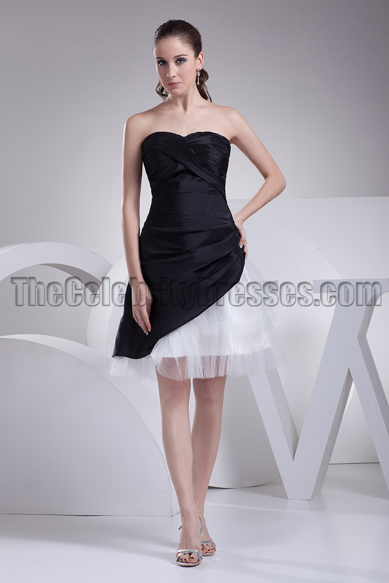 Short strapless black and white homecoming party dresses short strapless black and white homecoming party dresses thecelebritydresses ombrellifo Image collections