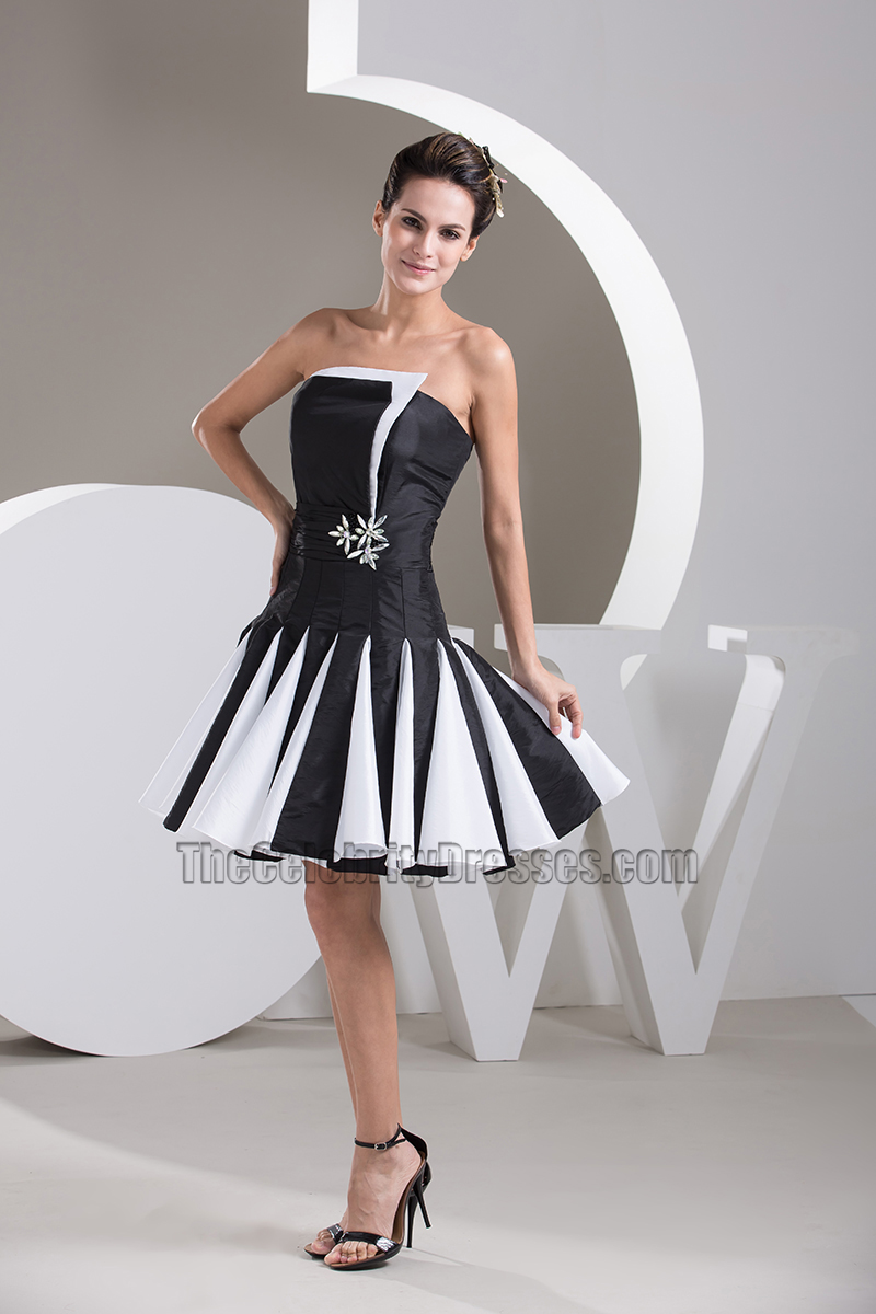 black party dress white and black homecoming cocktail dresses 12071