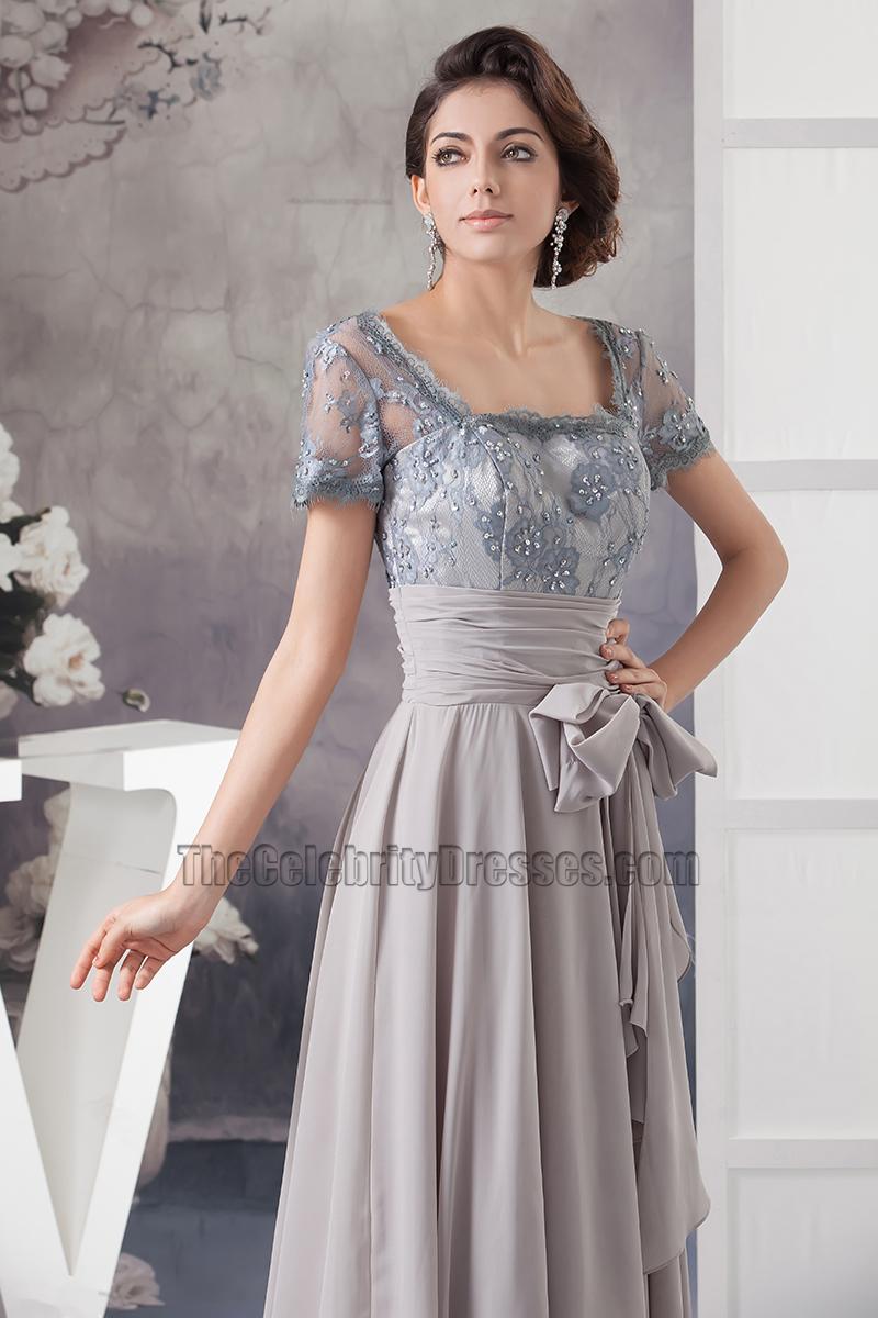 Square Neck Evening Dress