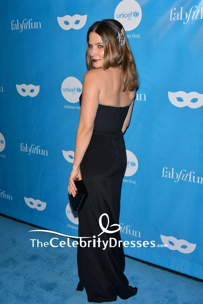 Sophia Bush Black Strapless Backless Evening Gown UNICEF Next ...