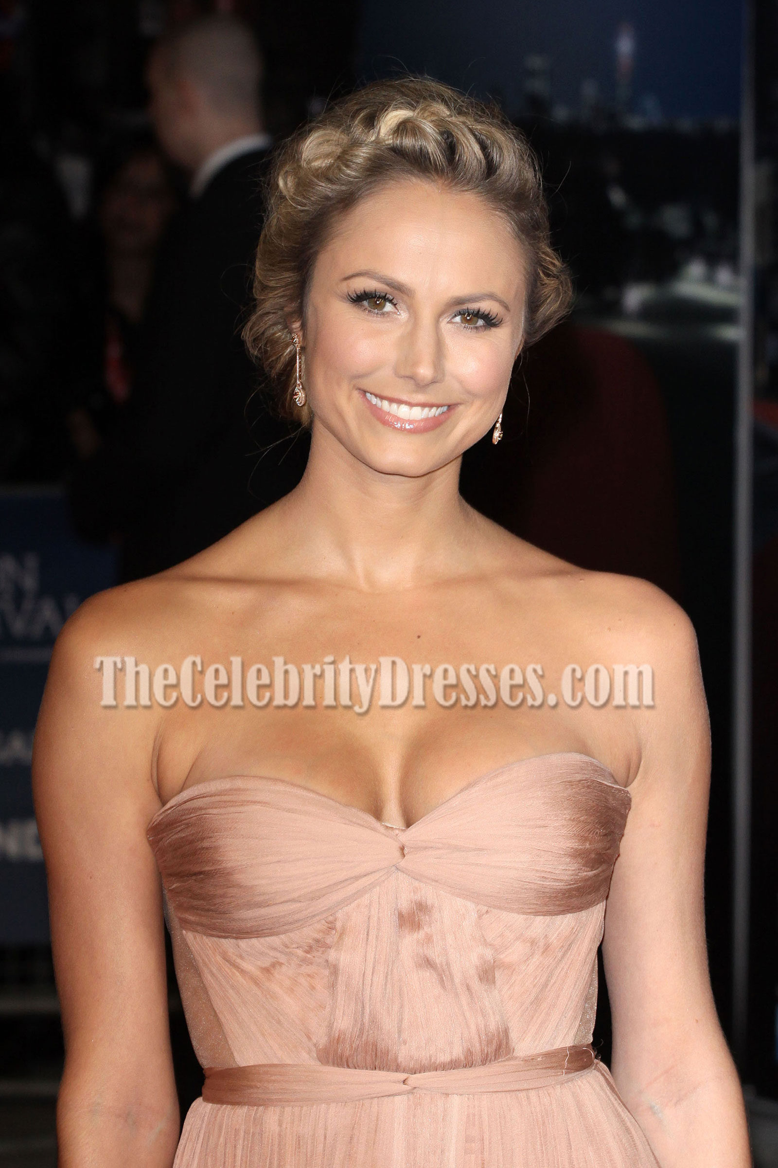 Stacy Keibler Gorgeous Sweetheart Strapless Evening Gown ...