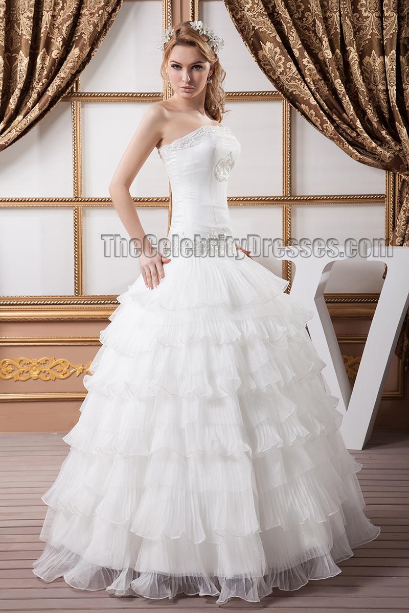 Stunning Strapless Beaded Ball Gown Wedding Dresses ...