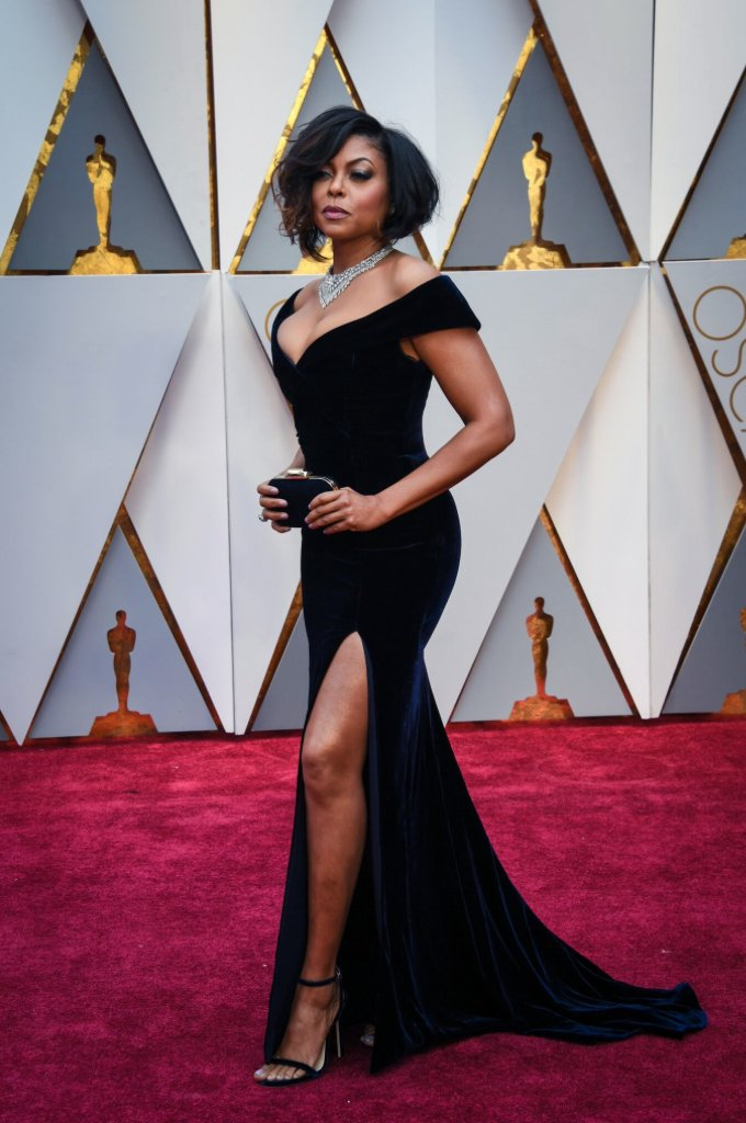 Weddings & Events Taraji P Henson Oscar 2019 Red Carpet Black Velvet Celebrity Dresses The 89th Academy Awards Mermaid Long Celebrity Gown Dress Fast Color