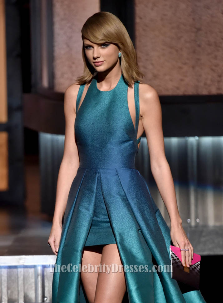 Taylor Swift Backless Prom Evening Dress 2015 Grammy Awards Red ...