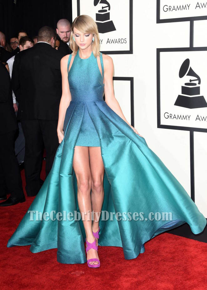taylor swift backless prom evening dress 2015 grammy
