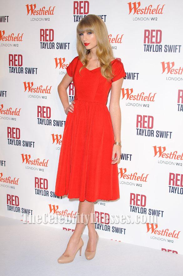 Taylor Swift Kleider Rot Röcke Cocktailkleid führt Westfield ...