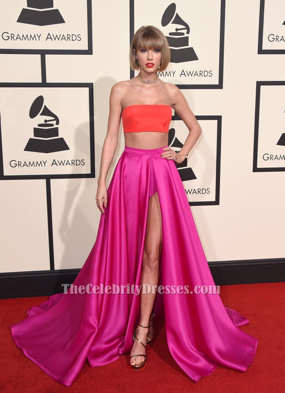 Taylor Swift Grammys 2016 Two Piece Dress Red Carpet Gown ...
