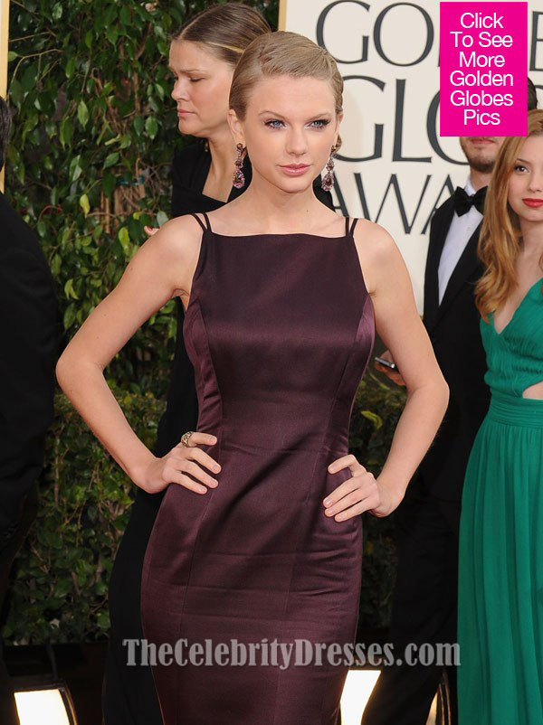 Taylor Swift Backless Mermaid Formal Dress Golden Globe