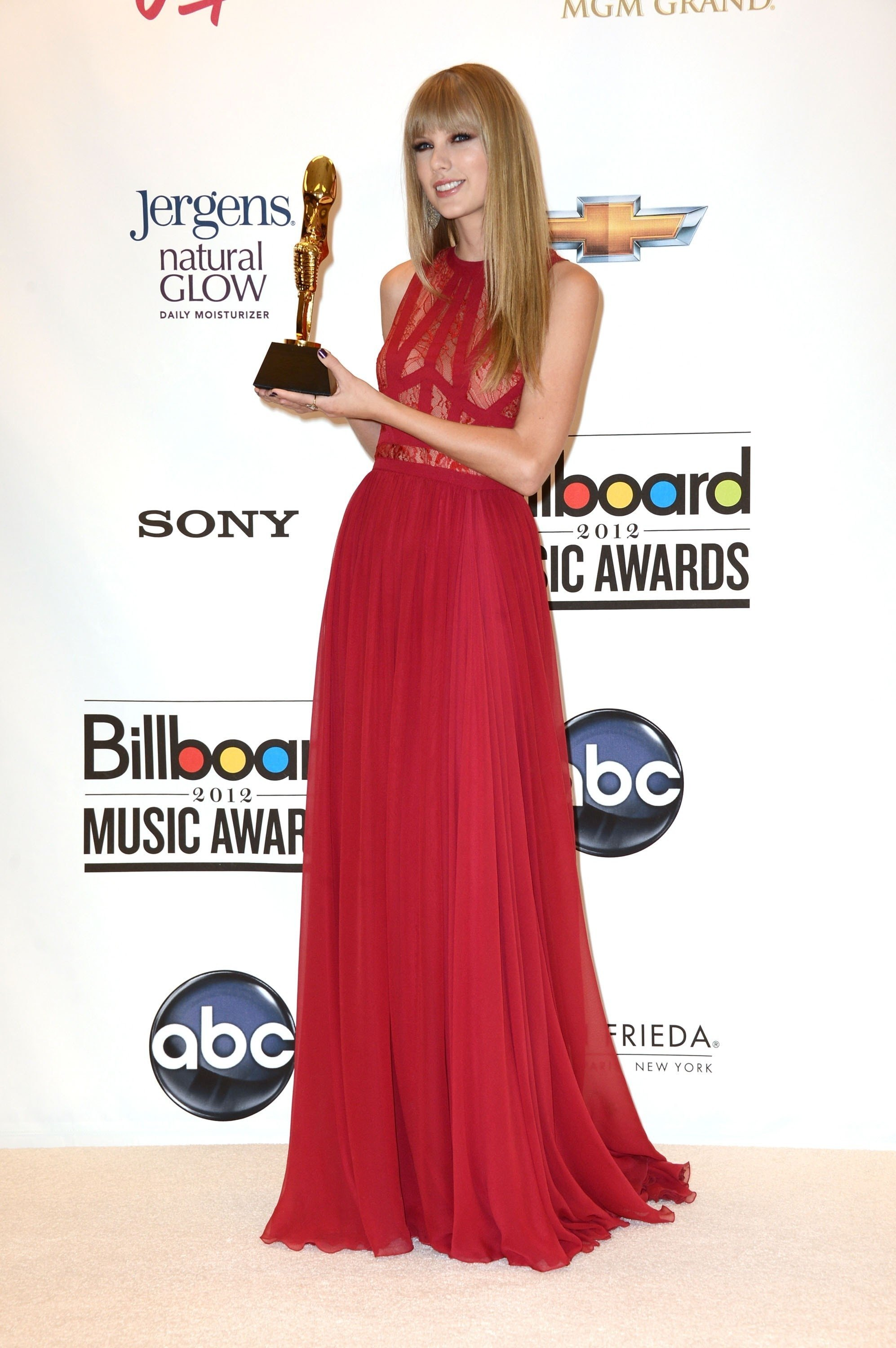 Taylor Swift Red Prom Dress Billboard Music Awards 2012 Gown ...