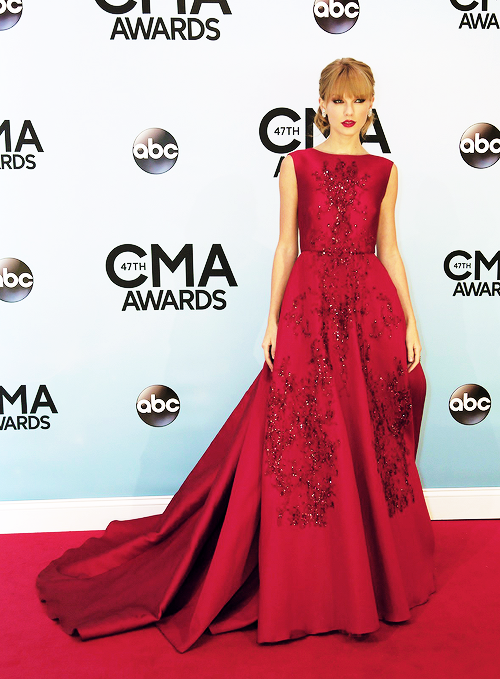 Taylor Swift Red Formal Dress CMA Awards 2013 Red Carpet ...