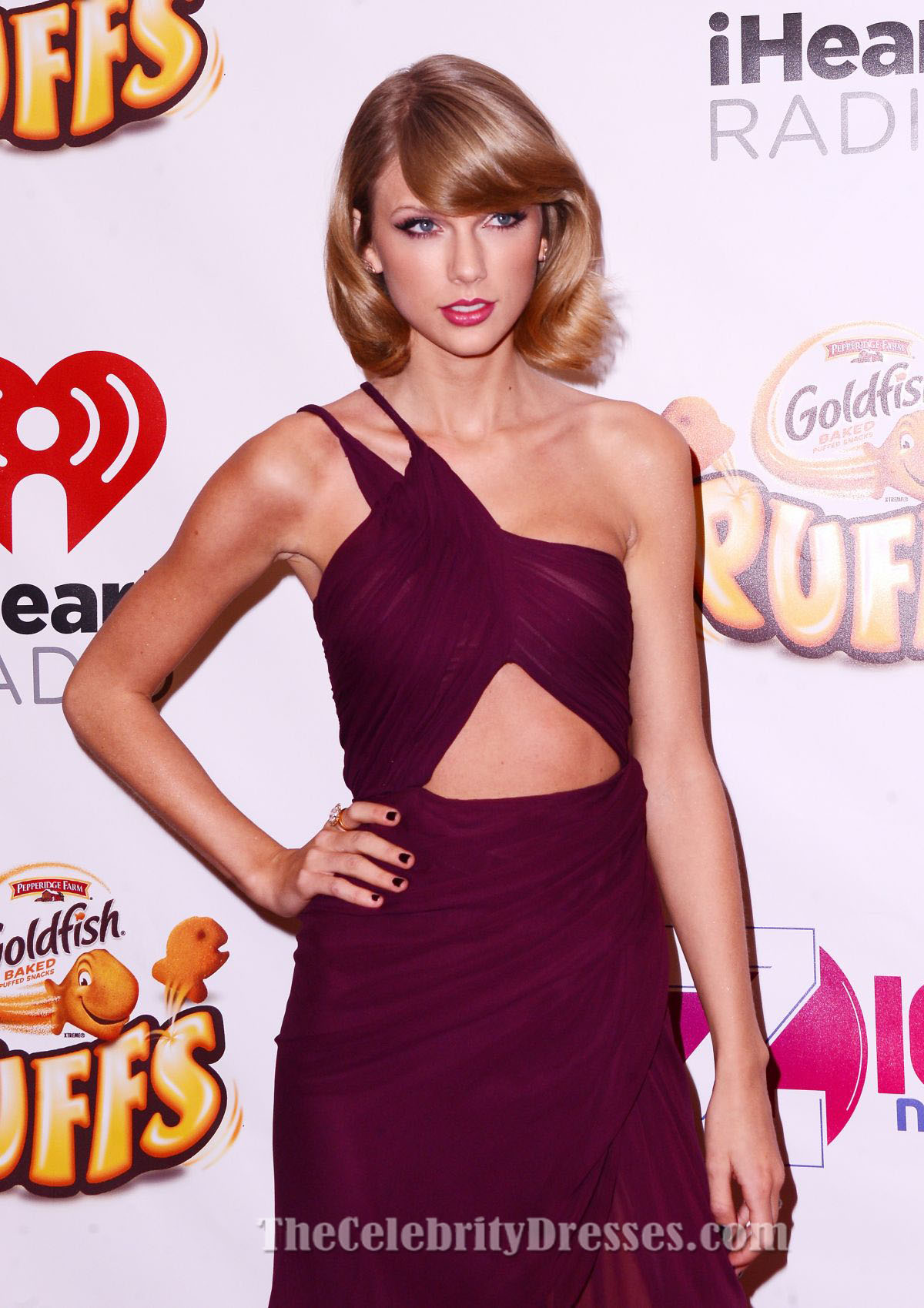 Short burgundy cocktail dress