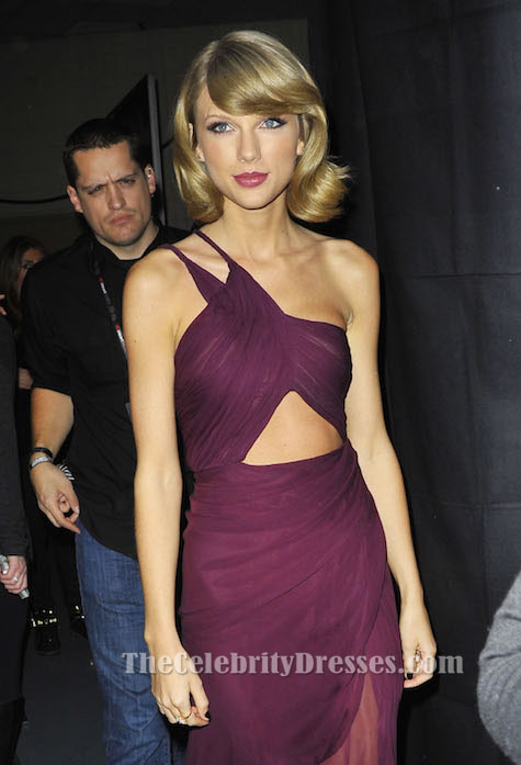 Taylor Swift Kurzes Burgund Cocktailkleid Z100\'s Jingle Ball ...