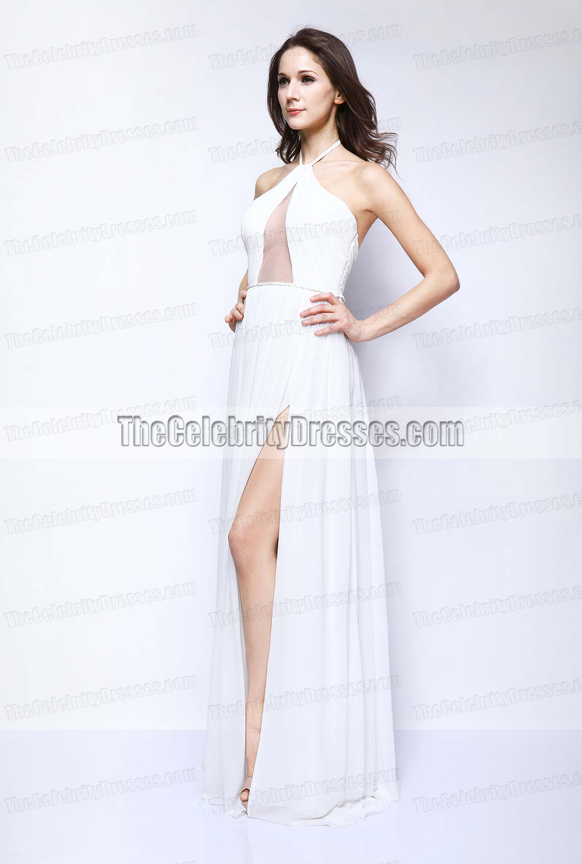 Taylor Swift White Evening Dress 2013 Fragrance Foundation Awards