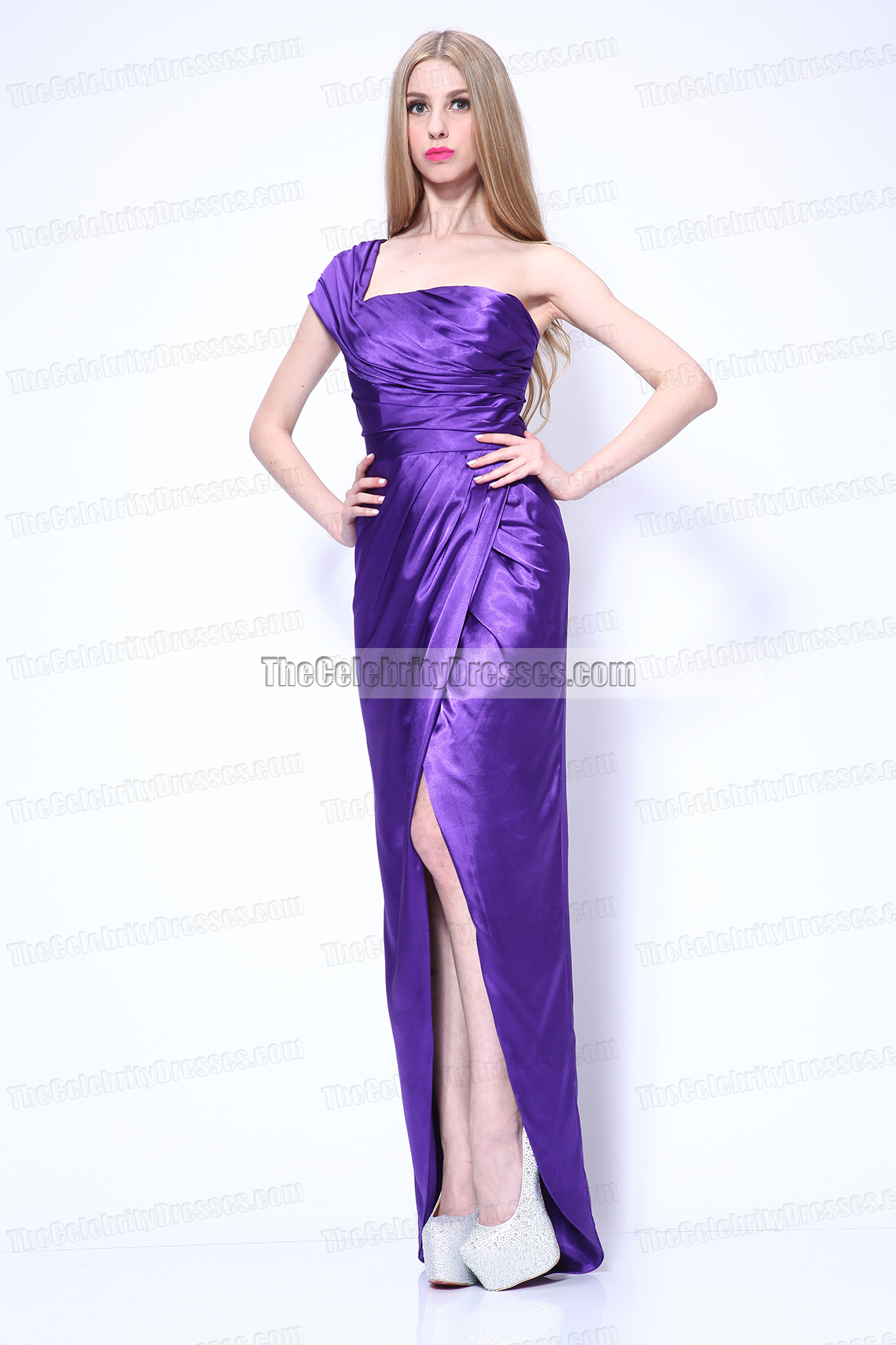 Celebrity Dresses Megan Fox Sexy Purple Evening Dress Premiere of ...