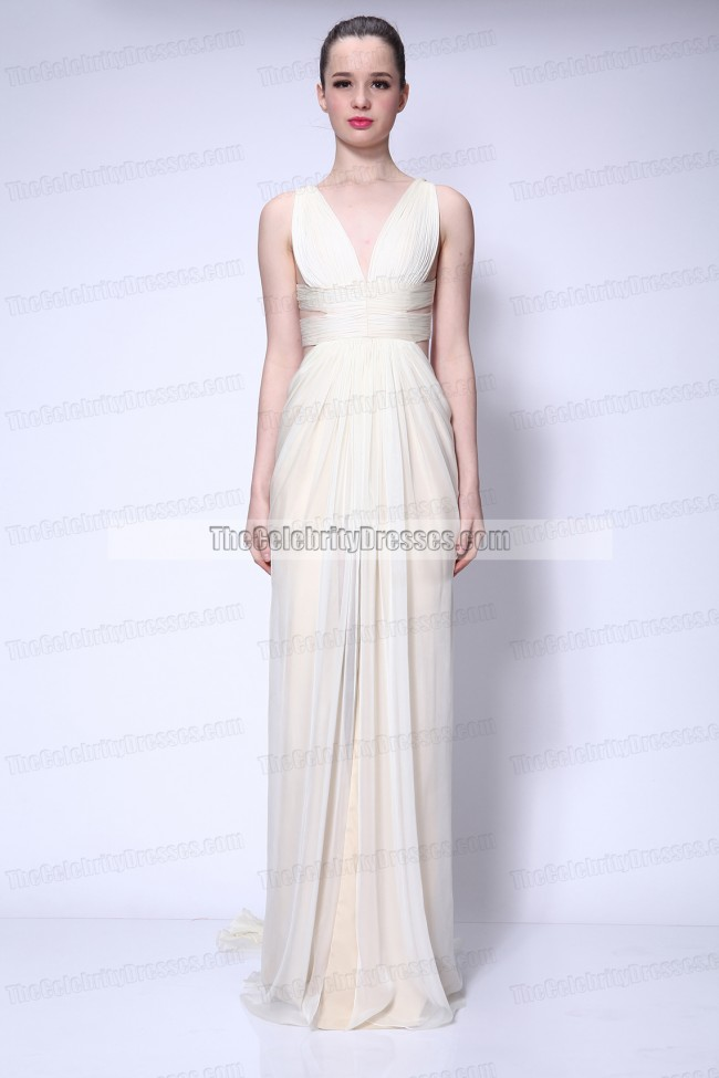 Celebrity Dresses Dita Von Teese Ivory Prom Dress Formal Evening