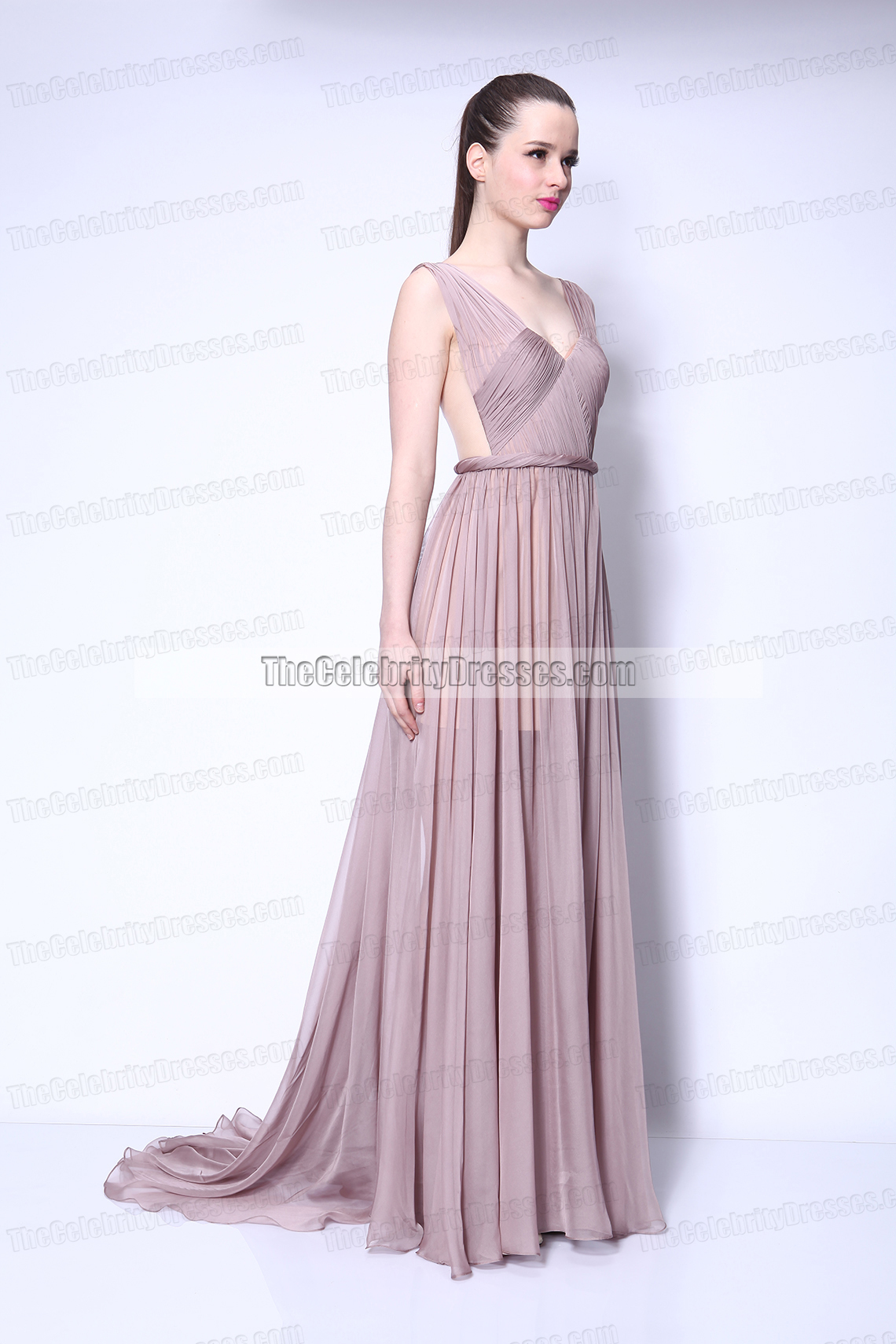 Taylor Swift Chiffon Prom Dress in Video Begin Again gorgeous Gown ...