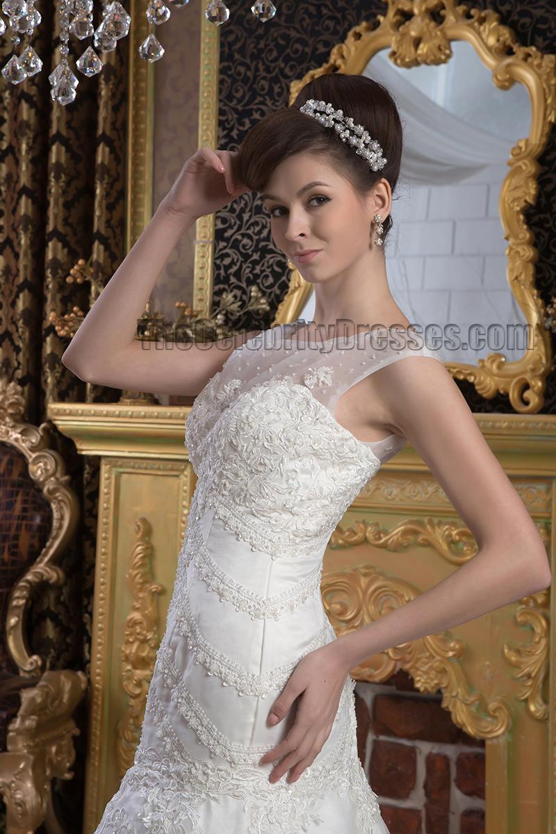 Trumpet Mermaid Beaded Embroidered Wedding Dresses