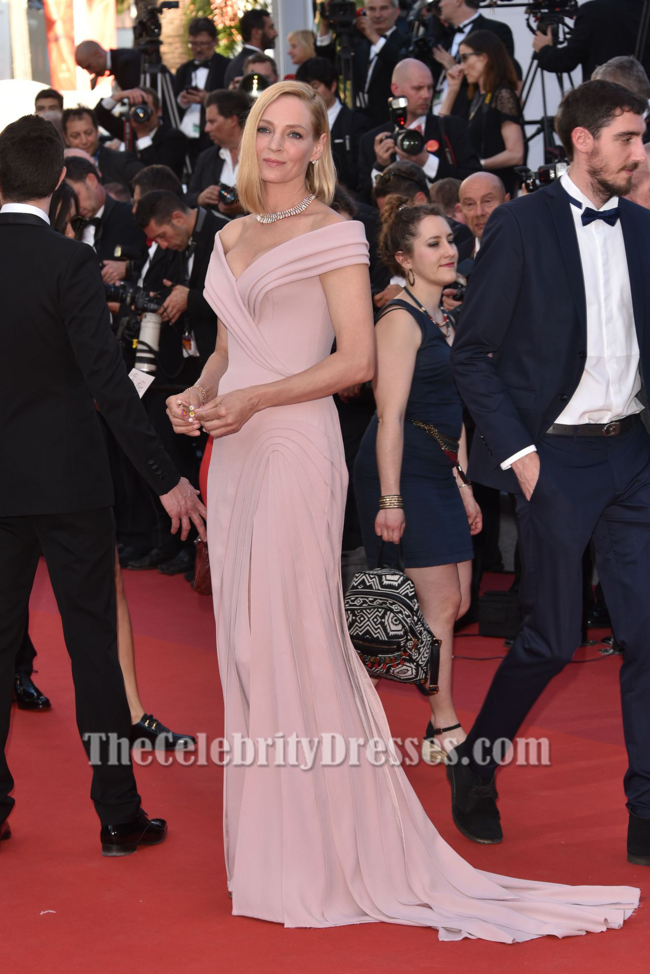 36824ced29 Uma Thurman Cannes Film Festival 2017 Red Carpet Evening Dress -  TheCelebrityDresses