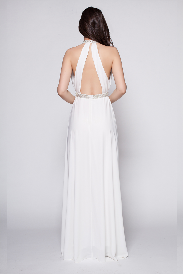 Beaded Backless Dress