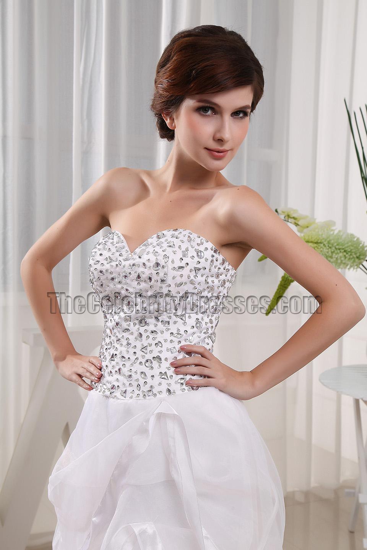 White Strapless Prom Dresses