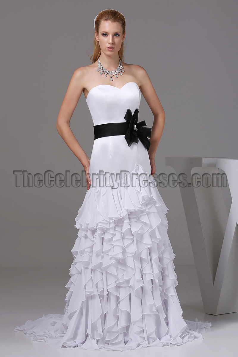sweetheart wedding dresses white sweetheart a line wedding dress prom gown with black 7871