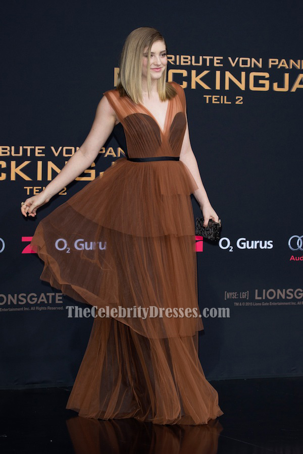 Willow Shields Tulle Evening Dress \'The Hunger Games Mockingjay ...