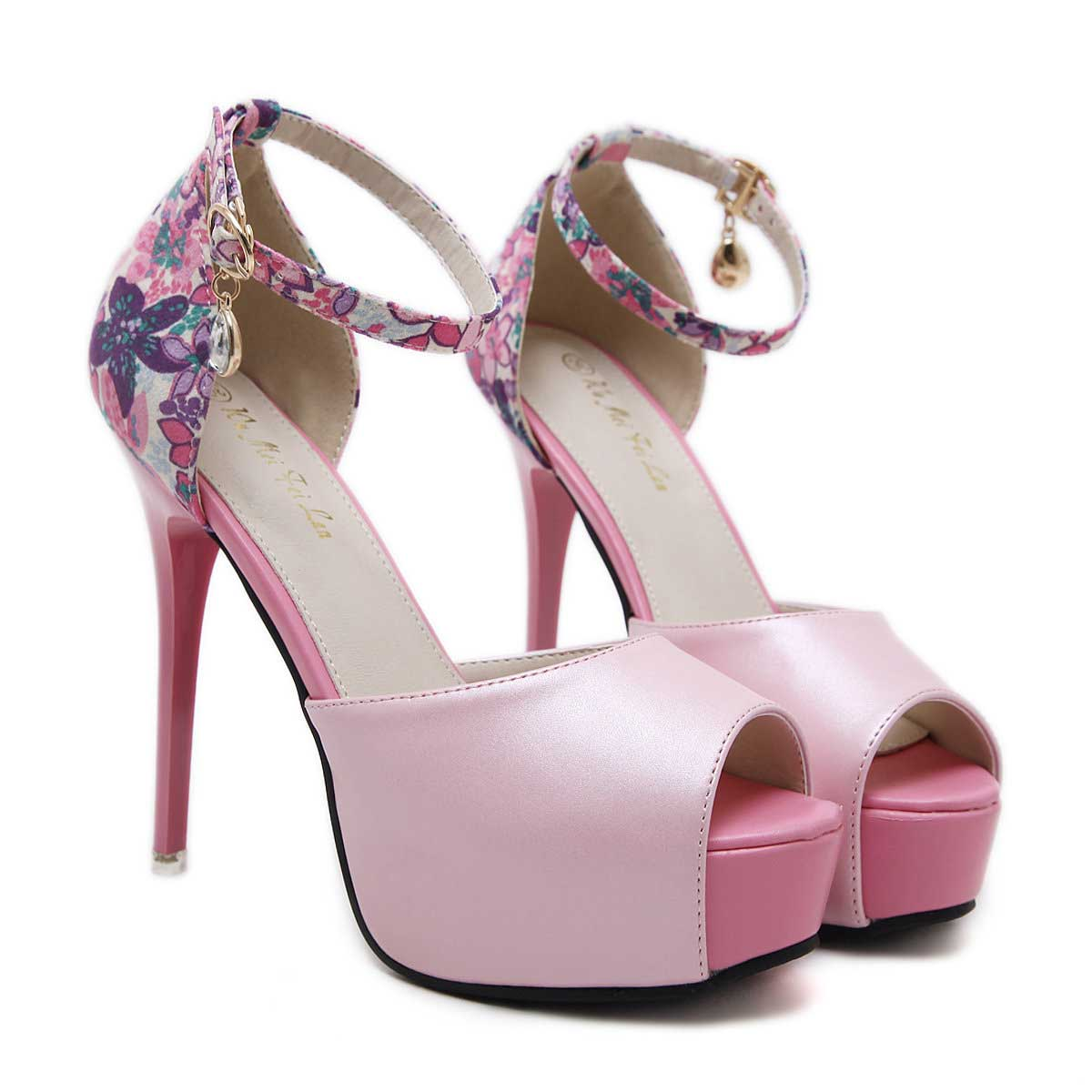 ankle strap wedding shoes women s fuchsia platform stiletto heels wedding shoes with 1313