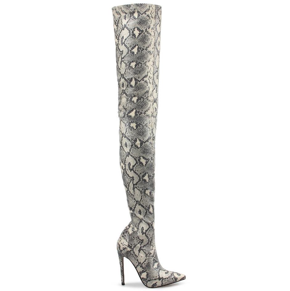 Stiletto Heel Snakeskin Print Over