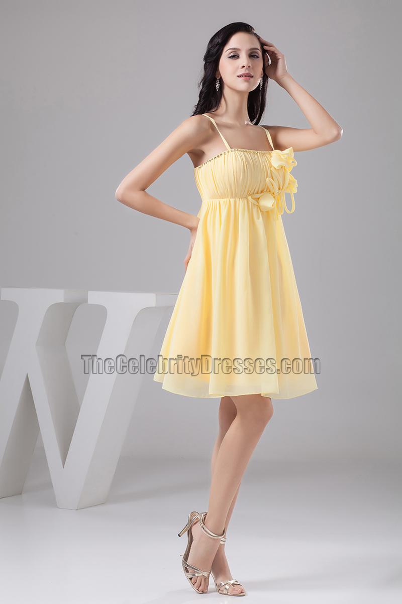 Spaghetti Strap Chiffon Dress