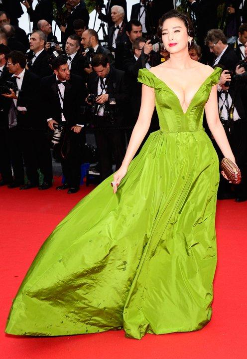 Zhang Yuqi Green Formal Dress Cannes Film Festival Opening