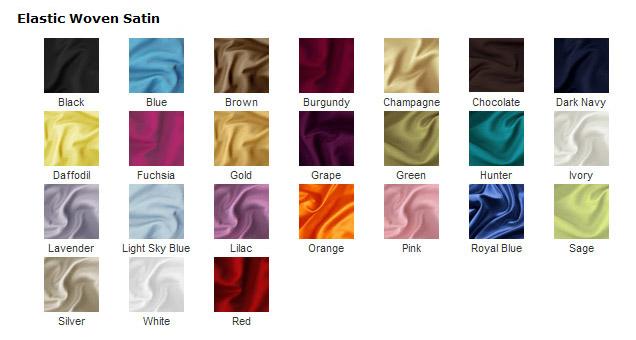 elastic woven satin color