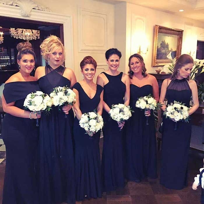 Dark Navy Bridesmaid Dresses