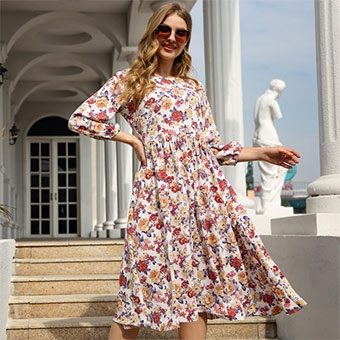 Fashion floral dresses